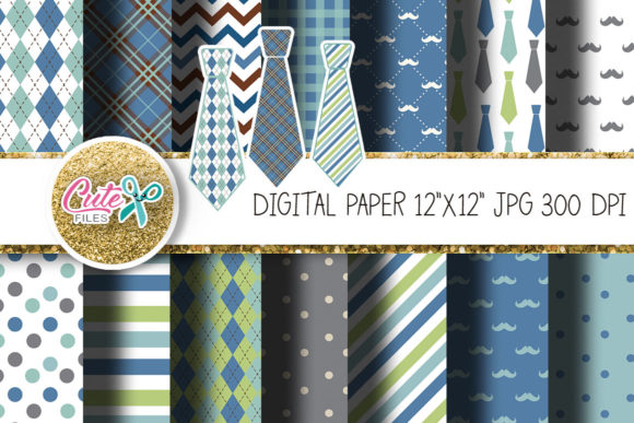 Download Free Fathers Day Digital Paper For Crafter Graphic By Cute Files for Cricut Explore, Silhouette and other cutting machines.