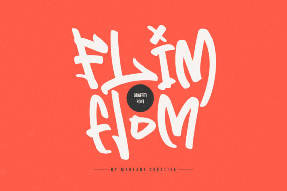 Download Free Flim Flom Font By Maulana Creative Creative Fabrica for Cricut Explore, Silhouette and other cutting machines.