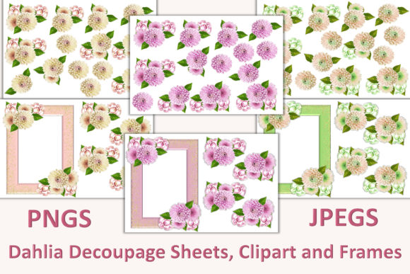 Download Free 1 Dahlia Flowers Designs Graphics for Cricut Explore, Silhouette and other cutting machines.
