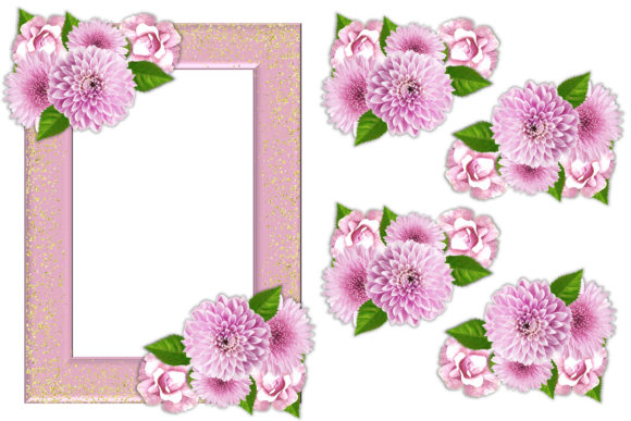 Download Free Flower Decoupage And Clipart Graphic By The Paper Princess for Cricut Explore, Silhouette and other cutting machines.