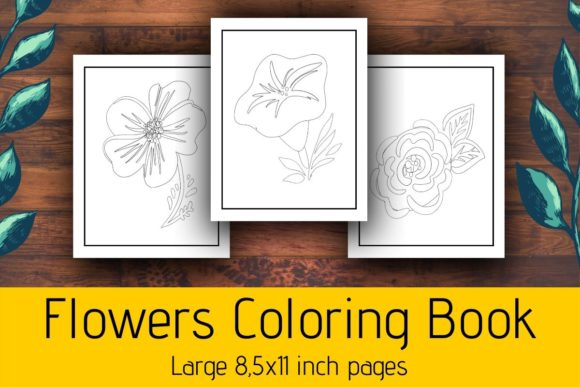 Print on Demand: Flowers Coloring Book for Kids KDP Graphic Coloring Pages & Books Kids By atlasart
