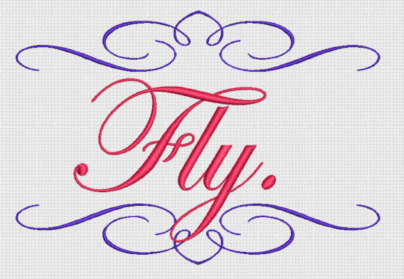 Fly Awareness & Inspiration Embroidery Design By Alpine Mastiff Designs