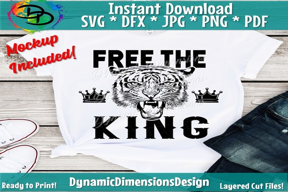 Download Free Free The King Tiger King Graphic By Dynamicdimensions Creative for Cricut Explore, Silhouette and other cutting machines.