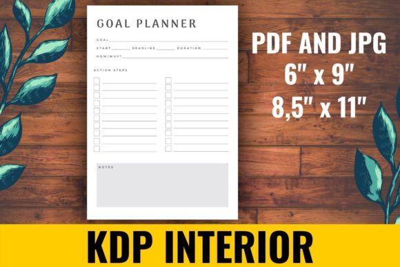 Print on Demand: Goal Planner KDP Interior Graphic KDP Interiors By atlasart