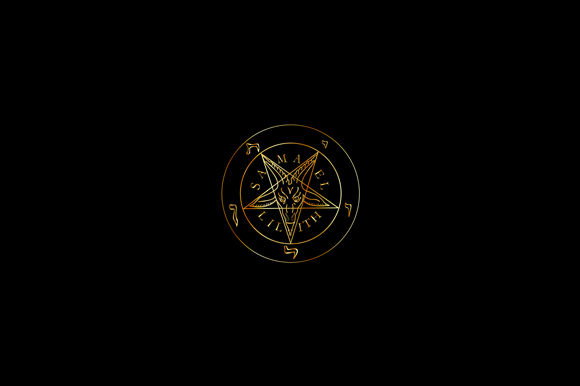 Golden Sigil of Baphomet Graphic Illustrations By shawlin