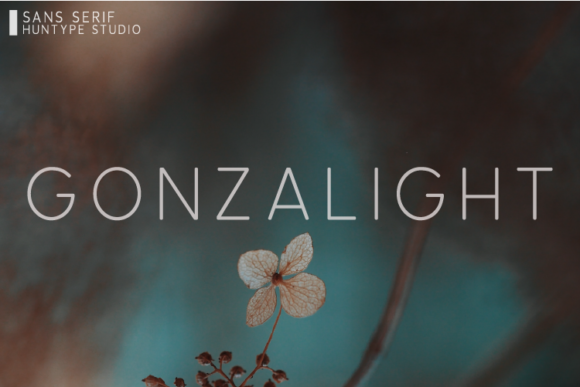 Print on Demand: Gonzalight Sans Serif Font By Huntype