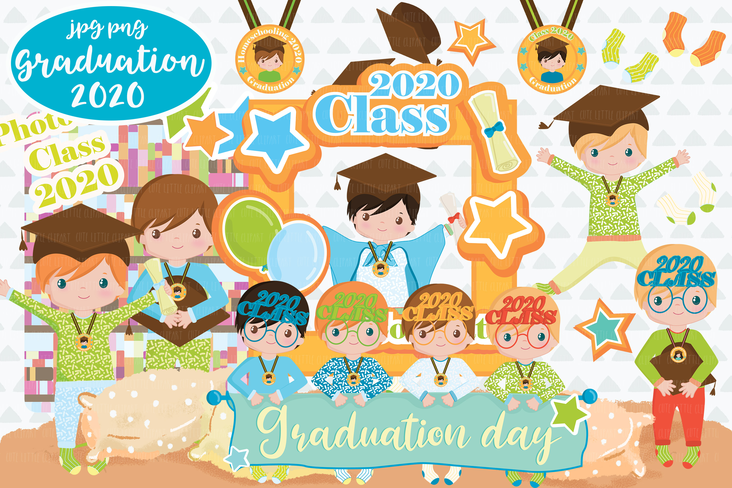 Download Free Graduation Boys 2020 Clipart Graphic By Cutelittleclipart for Cricut Explore, Silhouette and other cutting machines.