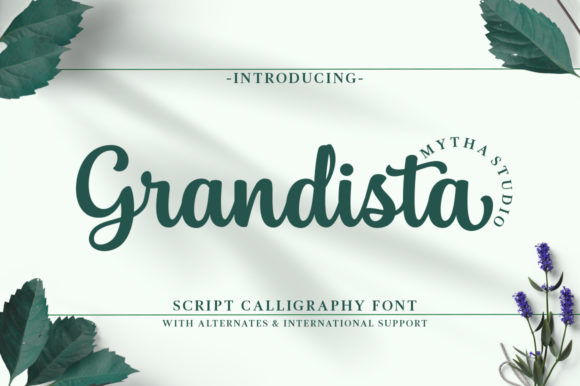 Print on Demand: Grandista Script & Handwritten Font By mythastudio