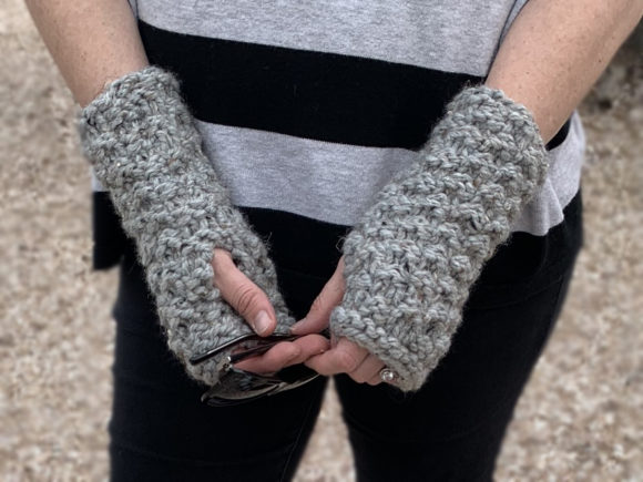 Granite Fingerless Mitts Knit Pattern Graphic Knitting Patterns By Knit and Crochet Ever After