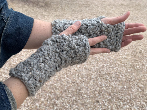 Granite Fingerless Mitts Knit Pattern Graphic Knitting Patterns By Knit and Crochet Ever After - Image 2