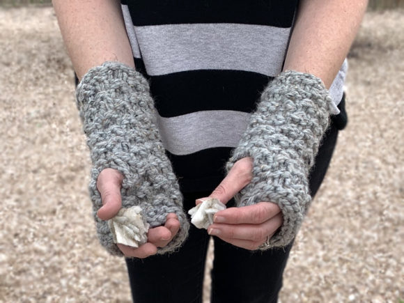 Granite Fingerless Mitts Knit Pattern Graphic Knitting Patterns By Knit and Crochet Ever After - Image 3