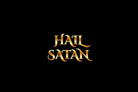 Hail Satan- Quote Graphic Illustrations By shawlin