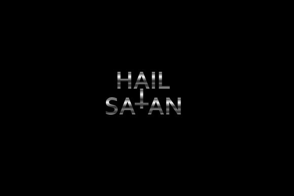 Hail Satan Quote Graphic Illustrations By shawlin