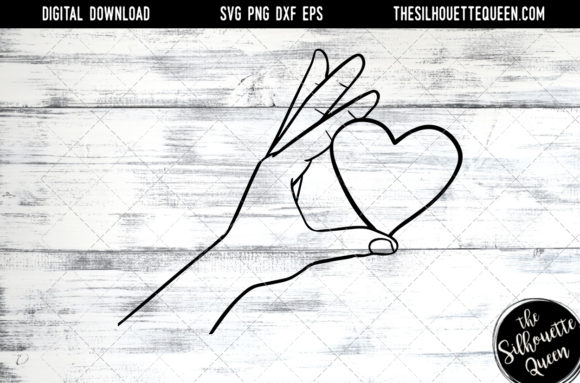 Hand Sketched Hand Holding Heart SVG Cut Files