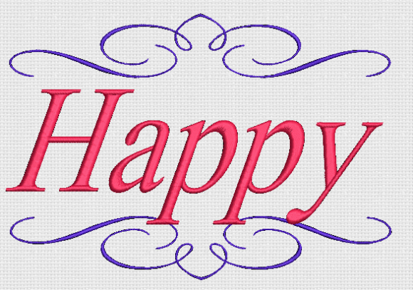 Happy Awareness & Inspiration Embroidery Design By Alpine Mastiff Designs