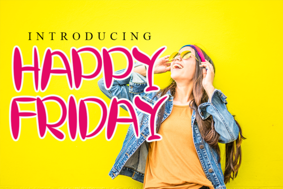 Download Free Happy Friday Font By Inermedia Studio Creative Fabrica for Cricut Explore, Silhouette and other cutting machines.