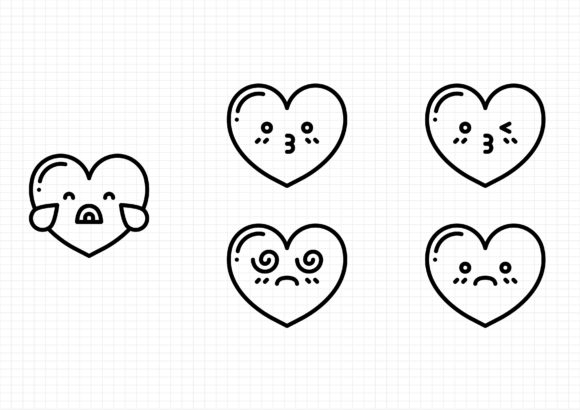 Download Free Heart Emoticons Graphic By Gantengagif7 Creative Fabrica for Cricut Explore, Silhouette and other cutting machines.