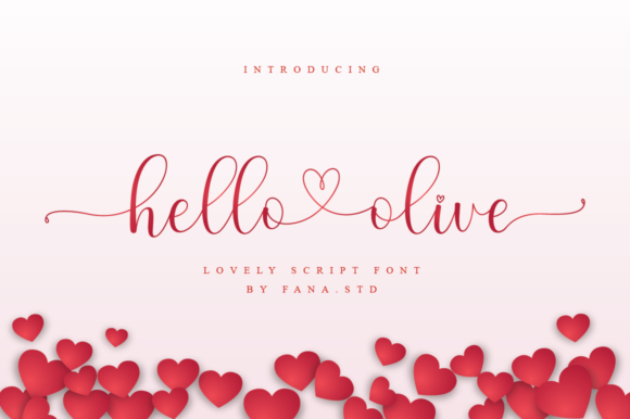Print on Demand: Hello Olive Script & Handwritten Font By fanastudio - Image 1