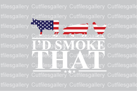 Download Free I D Smoke That 4th Of July Graphic By Cutfilesgallery for Cricut Explore, Silhouette and other cutting machines.
