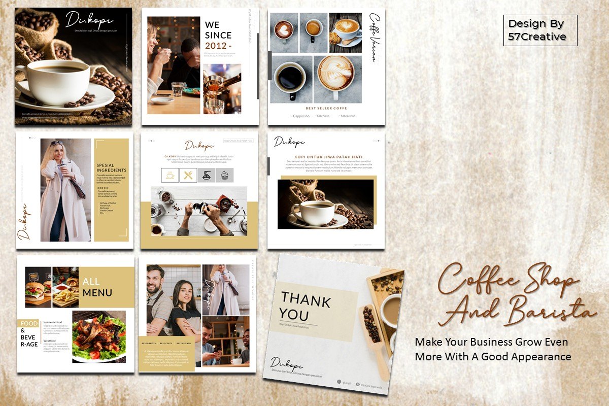 Download Free Instagram Feed Coffee Shop And Barista Graphic By for Cricut Explore, Silhouette and other cutting machines.