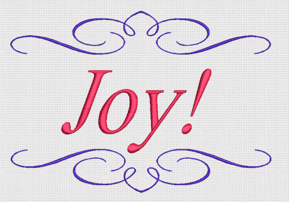 Joy Awareness & Inspiration Embroidery Design By Alpine Mastiff Designs