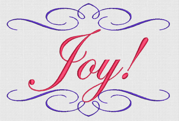 Joy! Awareness & Inspiration Embroidery Design By Alpine Mastiff Designs