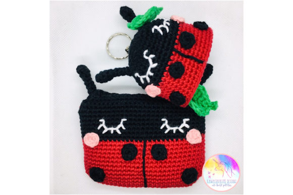 Download Free Kawaii Ladybird Purse And Keyring Set Graphic By Kawaiigurumi for Cricut Explore, Silhouette and other cutting machines.