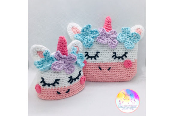 Download Free Kawaii Unicorn Purse And Keyring Set Graphic By Kawaiigurumi for Cricut Explore, Silhouette and other cutting machines.