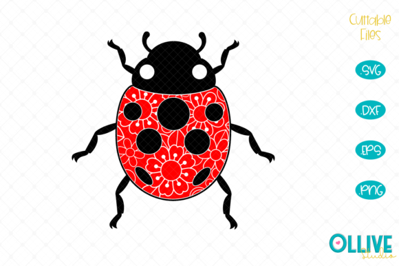 Download Free Ladybug Zentangle Graphic By Ollivestudio Creative Fabrica for Cricut Explore, Silhouette and other cutting machines.