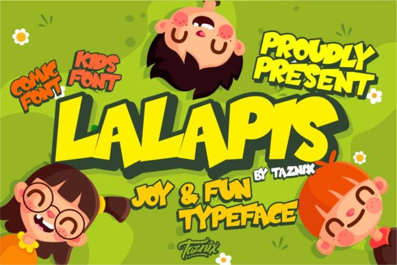 Print on Demand: Lalapis Display Font By taznixart