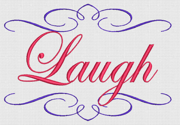 Laugh Awareness & Inspiration Embroidery Design By Alpine Mastiff Designs