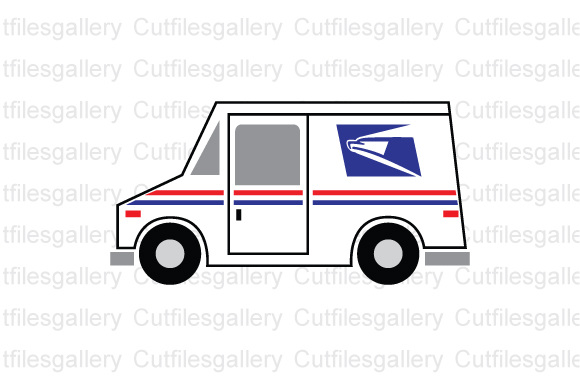 Download Free Mail Truck Postal Truck Graphic By Cutfilesgallery Creative for Cricut Explore, Silhouette and other cutting machines.