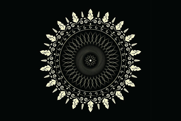 Download Free Simple Mandala Graphic By Cecepsopian890 Creative Fabrica for Cricut Explore, Silhouette and other cutting machines.