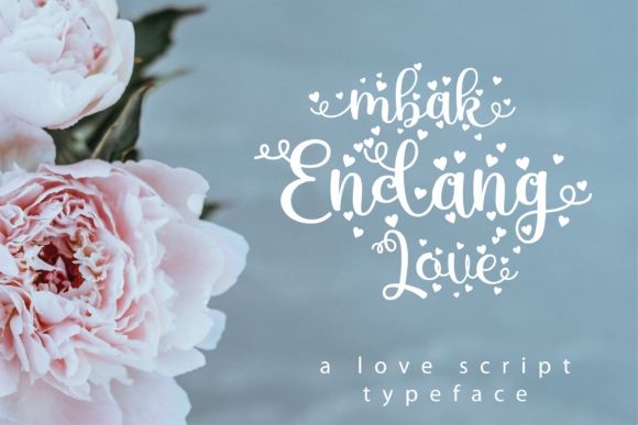 Print on Demand: Mbak Endang Love Script & Handwritten Font By dickysyafaat