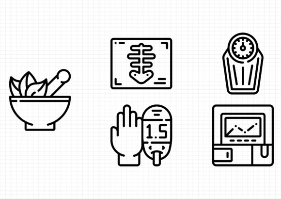Medical Equipment Graphic Icons By gantengagif7