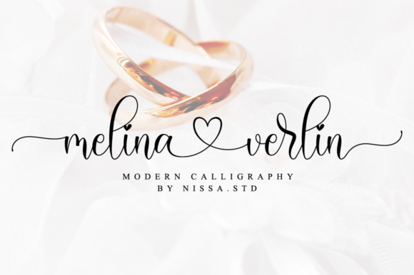 Print on Demand: Melina Verlin Script & Handwritten Font By NissaStudio