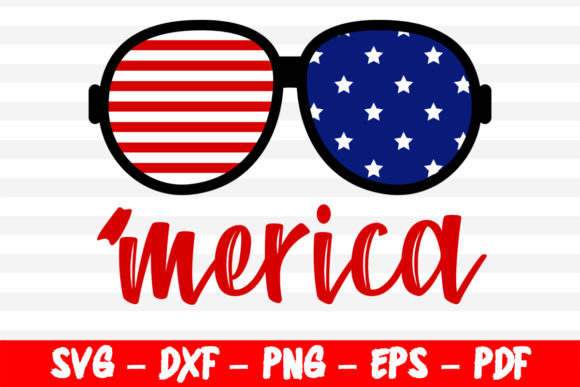 Print on Demand: Merica 4th of July Patriotic Design Graphic Crafts By bestsvgfiles