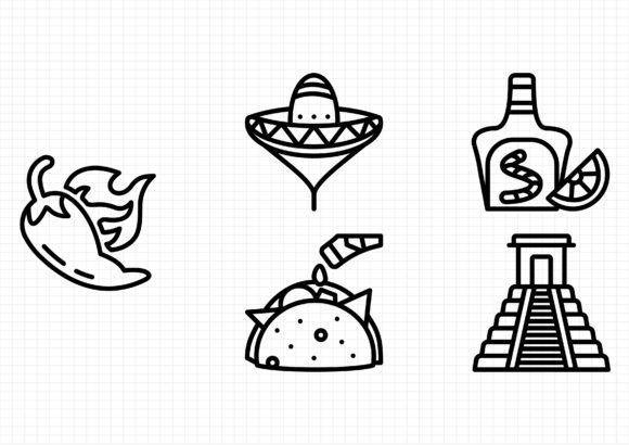 Download Free Mexico Graphic By Gantengagif7 Creative Fabrica for Cricut Explore, Silhouette and other cutting machines.