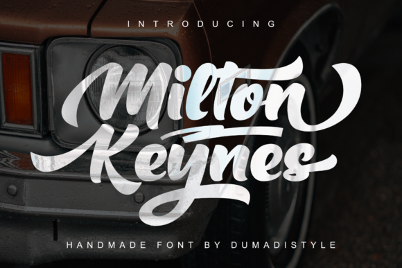 Print on Demand: Milton Keynes Script & Handwritten Font By DUMADI