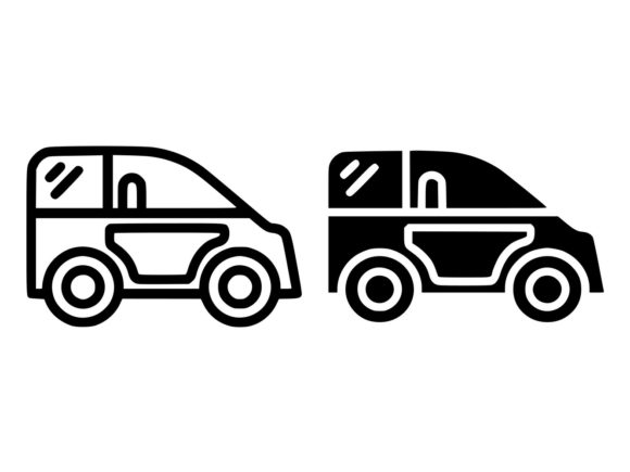Download Free Mini Car Line And Glyph Icon Graphic By Anrasoft Creative Fabrica for Cricut Explore, Silhouette and other cutting machines.