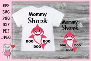 Mommy Shark Files, Mommy Graphic Illustrations By  Magic world of design