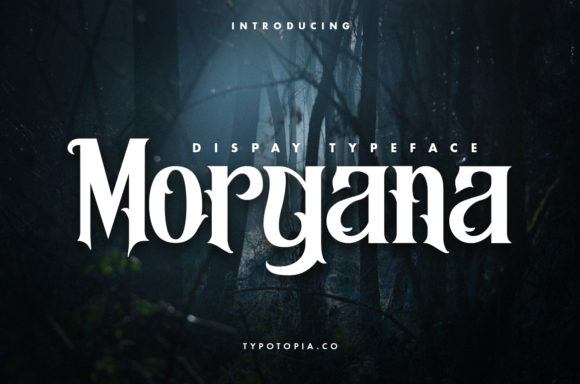 Print on Demand: Morgana Display Font By typotopia