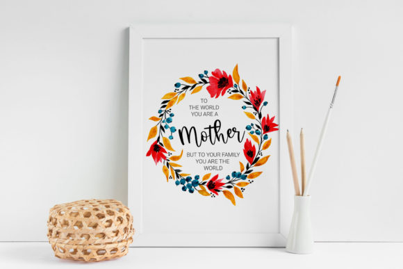 Mother's Day Printable, Card for Mom Graphic Illustrations By RedDotsHouse