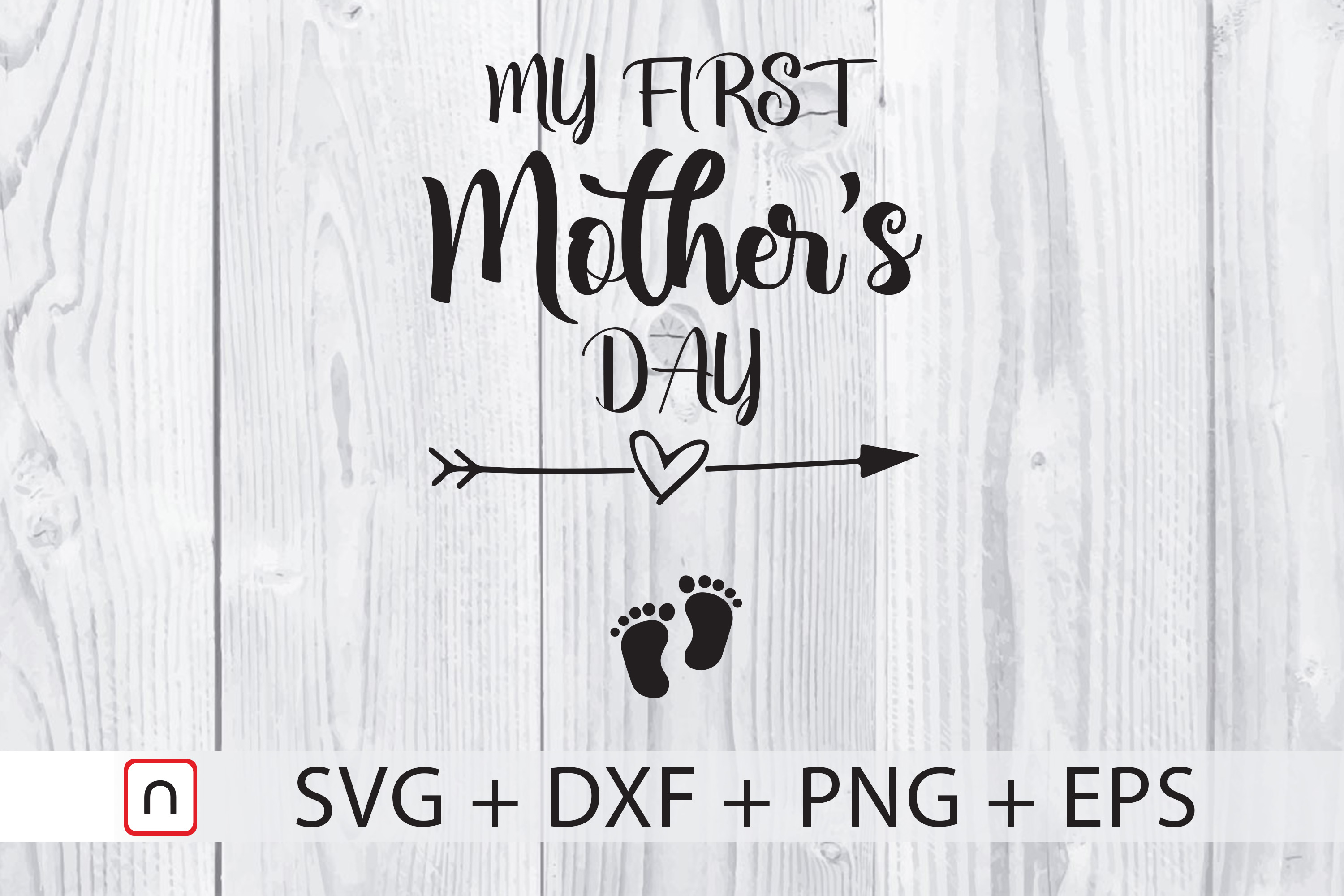 Download Free My First Mother S Day Graphic By Novalia Creative Fabrica for Cricut Explore, Silhouette and other cutting machines.