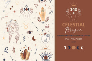 Mystical Collection Pattern & Clipart Graphic Illustrations By EssentiallyNomadic