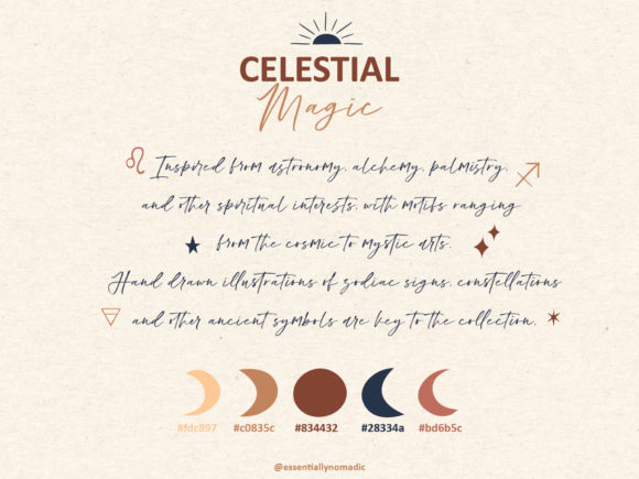 Mystical Collection Pattern & Clipart Graphic Illustrations By EssentiallyNomadic - Image 10