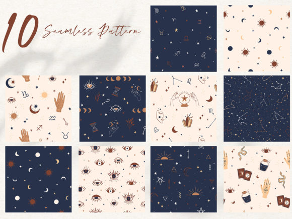 Mystical Collection Pattern & Clipart Graphic Illustrations By EssentiallyNomadic - Image 2