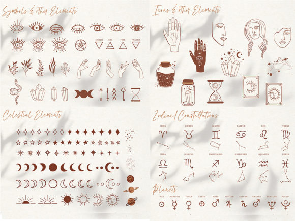 Mystical Collection Pattern & Clipart Graphic Illustrations By EssentiallyNomadic - Image 7