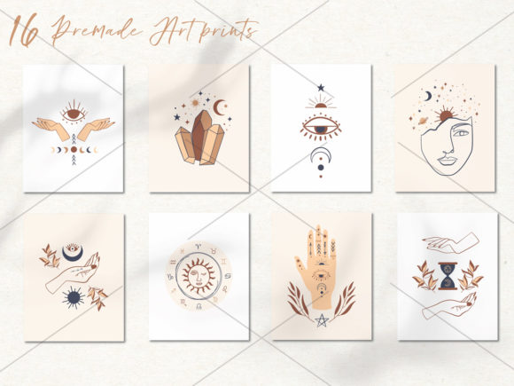 Mystical Collection Pattern & Clipart Graphic Illustrations By EssentiallyNomadic - Image 9