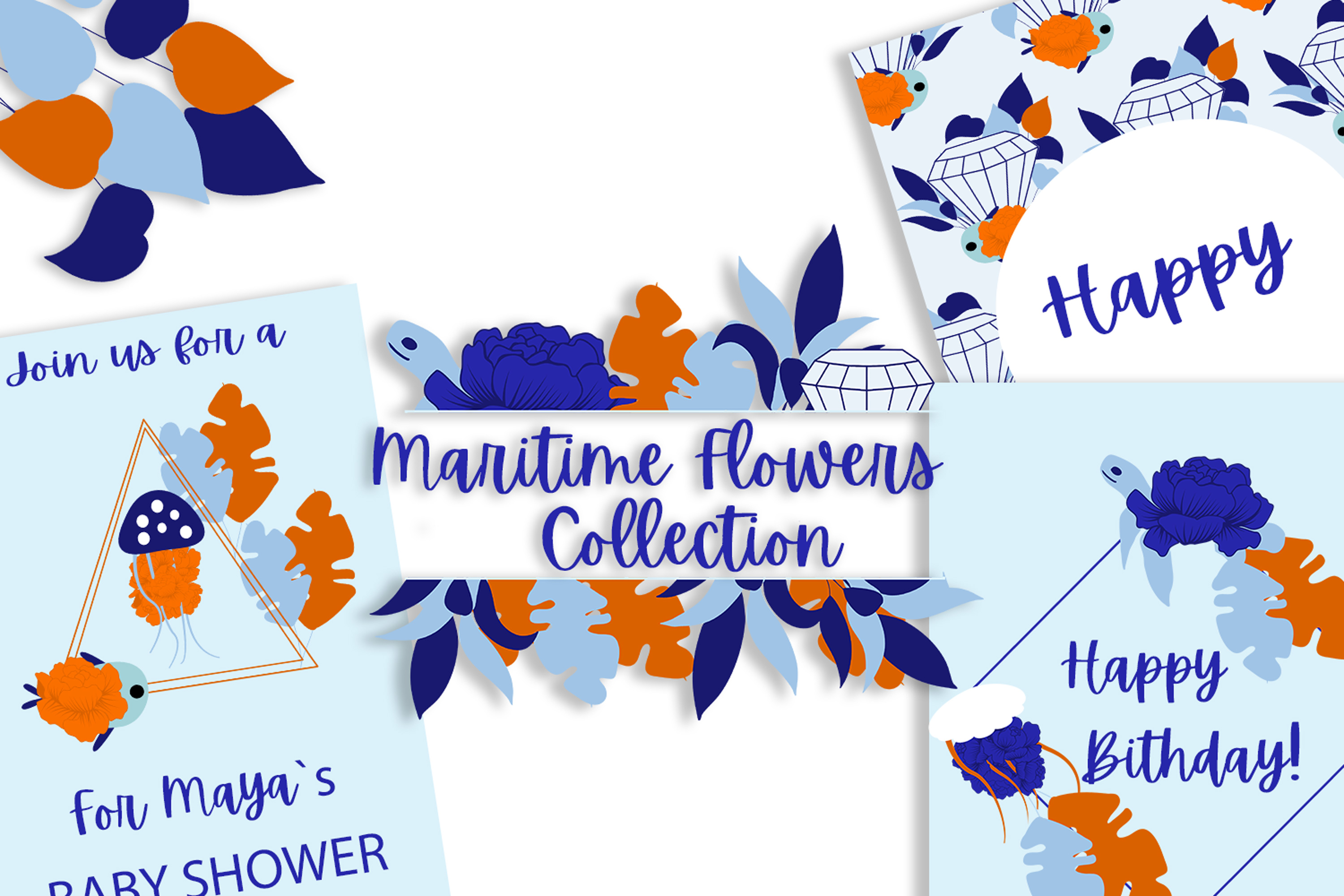 Download Free Nautical Baby Shower Collection Graphic By Andreea Eremia Design for Cricut Explore, Silhouette and other cutting machines.